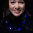 Blue LED Beaded Necklaces