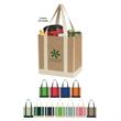 Non-Woven Two-Tone Shopper Tote Bag - Non-Woven Two-Tone Shopper Tote Bag.  Made Of 80 Gram Non-Woven, Coated Water-Resistant Polypropylene.  Recyclable.  Reusable.