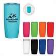 19 Oz. Everest Tumbler - 19 oz. acrylic double wall tumbler with slide action, spill-resistant lid.