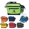 Six Pack Kooler Bag - Six Pack Kooler Bag. Made Of 70D Nylon.  PEVA Lining.  Adjustable Shoulder Strap.  Front Zippered Pocket.  Spot Clean/Air Dry.
