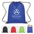 Insulated Drawstring Cooler Bag - Drawstring backpack with insulated main compartment and PEVA lining.