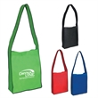 """Non-Woven Messenger Tote Bag With Hook And Loop Closure - Non-Woven Messenger Tote with Hook & Loop Closure.  Made of 80 Gram Non-Woven, Coated Water-Resistant Polypropylene.  33"""" Handles."""