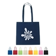 """100% Cotton Tote Bag - 100% Natural Cotton Tote Bag.  30"""" Handles.  Spot Clean/Air Dry.  Approx. Size:  15"""" W x 15"""" H."""