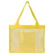 Sheer Striped Tote Bag - Nylon mesh/210D polyester sheer striped tote bag