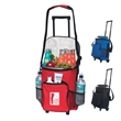 18 Can Rolling Kooler - Polyester, 18 can rolling cooler with front storage pocket.