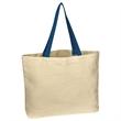 "Natural Cotton Canvas Tote Bag - Natural Cotton Canvas Tote Bag.  8 oz. Canvas.  20"" Handles.  Spot Clean/Air Dry."