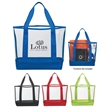 """Clear Casual Tote Bag - Clear Casual Tote Bag.  Made of PVC and 600 Denier Polyester.  22"""" Handles.  Spot Clean/Air Dry."""