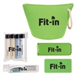 Cosmetic Bag Travel Kit - Cosmetic Bag Travel Kit Pricing Includes a 1 Color Imprint in 1 Location on Each Item