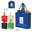 Non-Woven Foldable Shopper Tote - Non-woven tote bag that's water-resistant and foldable.