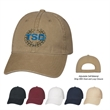 Washed Cotton Cap - Washed Cotton Cap.  100% Brushed Washed Cotton Twill, 6 Panel, Low Profile, Unstructured Crown & Pre-Curved Visor.