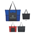 """Non-Woven Voyager Zippered Tote Bag - Non-Woven Voyalger Zippered Tote Bag.  Made of 80 Gram Non-Woven, Coated Water-Resistant Polypropylene.  28"""" Handles."""
