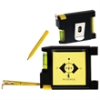 Multi-Function Tape Measure - Multi function tape measure with notepad and pen.