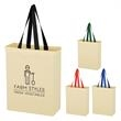 Natural Cotton Canvas Grocery Tote Bag - Tote bag for groceries made of natural cotton canvas.