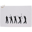 Silhouette in Action Golf Towel - Silhouette in Action Golf Towel
