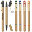 Dual Function Eco-Inspired Pen With Highlighter - Dual function eco-friendly pen with chisel tip yellow highlighter.