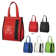 Snack Time Insulated Lunch Bag - Insulated lunch bag with hook and loop closure and zippered front pocket.