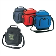 600D Polyester Leakproof Cooler with Leatherette Bottom - 600 denier polyester leakproof cooler with leatherette bottom.
