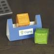 Desktop Calendar Cubes - Paper desktop accessory that features a 12 month calendar.