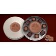 Round Window Box (8pc) - Themed chocolate truffles and custom chocolate centerpiece in window box