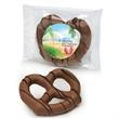 Milk Chocolate Dipped Pretzel - Individually labeled milk chocolate covered jumbo pretzel