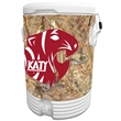 10 Gallon Beverage Cooler with King's Camo Field Wrap - 10 gallon beverage cooler with camouflage wrap.