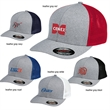 """Flexfit Megange Trucker Cap - Structured, mid-profile, six-panel trucker cap with 3 1/2"""" crown, Permacurv® visor and sewn eyelets."""