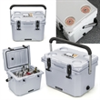 Basecamp® Ice Block 20L Cooler - 20 liter cooler keeps ice solid for days; includes a cup holder lid and padded carry handle.
