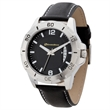 Unisex High Tech Watch Unisex Watch with Date Display - Watch for men and women with 41mm brushed silver metal case and stylish natural leather straps.