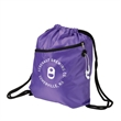 Prevail Drawstring Backpack - Polyester drawstring backpack with a zipper compartment.