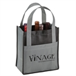Toscana Six Bottle Non-Woven Wine Tote - Six-bottle wine tote with two-tone design.