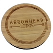 """Laser Etched Bamboo Coasters - Laser etched bamboo coaster on 1/4"""" thick wood material"""