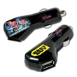 Car USB Charger - USB smartphone charger with DC-5-Volt-1 Amp output and circuit protection for use in a car.