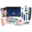 "Travel Kit - Travel, dental and shaving kit in 6"" x 4.25"" zippered nylon case with carabiner clip."