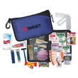 """Travel Kit - Travel kit in 8.5"""" x 5.5"""" zippered nylon case with rope loop and carabiner clip."""