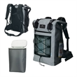 iCOOL® Xtreme Waterproof Cooler Backpack - Waterproof cooler backpack; 42-qt capacity with removable 30-can PEVA-lined cooler.