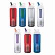 26 oz. PET Bottle With Flip Spout, Infuser & Filter - 25 oz. Sports water bottle made from PET;  flip spout, infuser & filter. BPA Free.