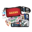"""Universal Travel Kit - Deluxe travel kit in 8.5"""" x 5.5"""" x 1"""" zippered nylon bag with carabiner clip."""