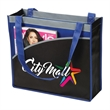 Mesa Curve Non-Woven Tote - Non-woven tote bag with a curved pocket on the front.