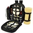 Picnic Backpack Cooler for Two with Blanket - Fully equipped picnic backpack for two, with a large fleece picnic blanket.