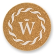 Cork Round Coaster - Round Coaster. Absorbent cork material. Reusable or disposable earth-friendly.