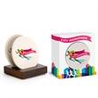 2 Piece Round Ceramic Coaster Set in Gift Box - 2 Piece Round Ceramic Coaster Set in Gift Box.