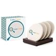 4 Piece Round Ceramic Coaster Set in Gift Box - 4 Piece Round Ceramic Coaster Set in Gift Box.