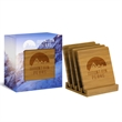 4 Piece Bamboo Coaster Set in Gift Box - 4 Piece Bamboo Coaster Set in Gift Box.