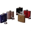 Flask Funnel Set - 6 oz. capacity stainless steel flask with a funnel accessory and attractive gift box and packaging