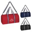 Striped Handle Duffel Bag