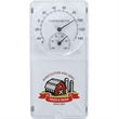 """Indoor/Outdoor Thermometer & Hygrometer - 3"""" x 6"""" x 1"""" white weather-resistant thermometer and hygrometer that can be used indoors or outdoors."""