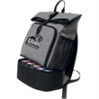 Recess Backpack Cooler - extra deep, spacious main compartment ,a large elastic sleeve for a laptop,The top is secured by a unique roll top system with a b