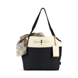 Tori Cotton Fashion Tote - Canvas tote bag with three exterior pockets