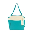 Tori Cotton Fashion Tote - Canvas tote bag with three exterior pockets