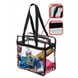 NFL Approved PGA Complied Heavy Duty Clear Stadium Tote - Clear stadium tote bag.